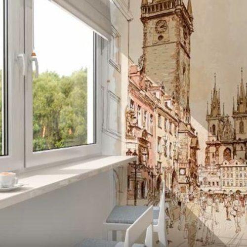 Красивый интерьер на балкона