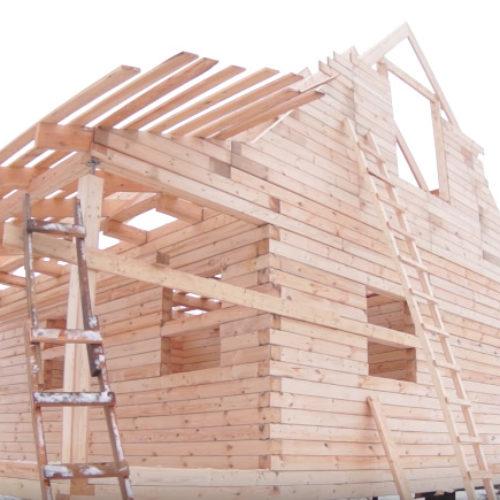 Строительство дома из бруса, день шестой