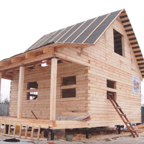 Строительство дома из бруса, готов