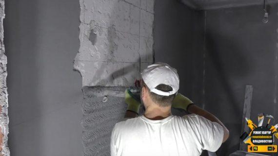 """Выравнивание стен и штукатурные работы от компании - """"Ремонт квартир Владивосток"""""""