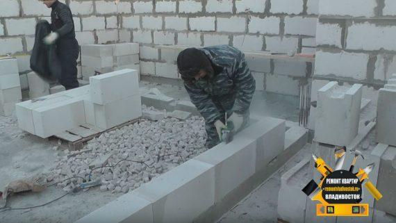 Продолжаем строить зимой дом из газобетона во Владивостоке