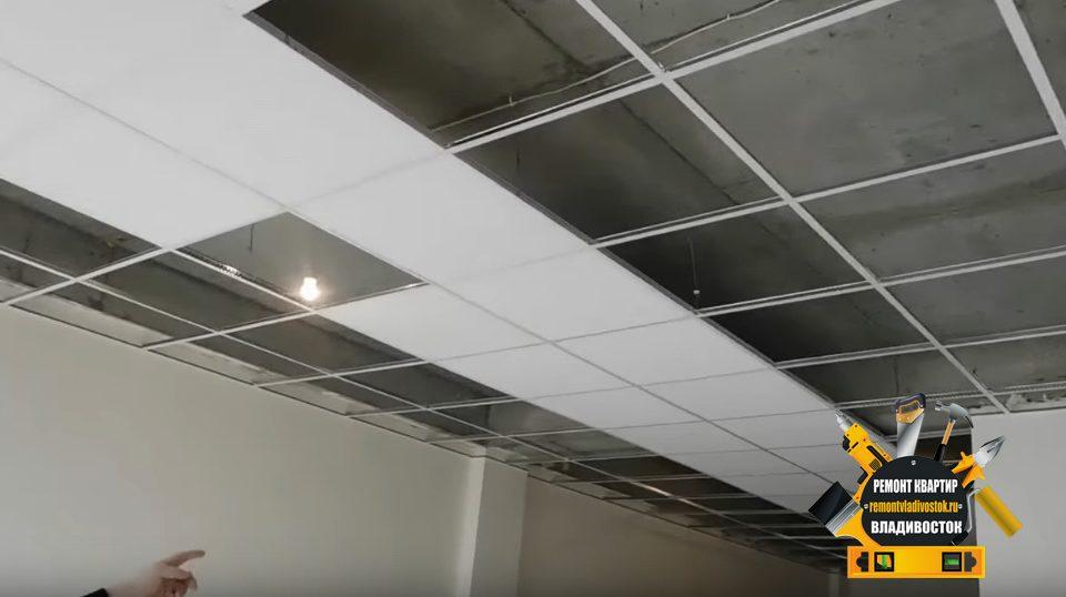 Монтаж потолка амстронг во Владивостоке недорого