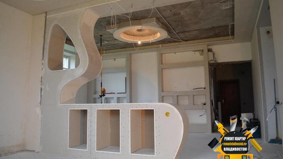 Установка подвесного потолка от компании -«Ремонт квартир Владивосток»