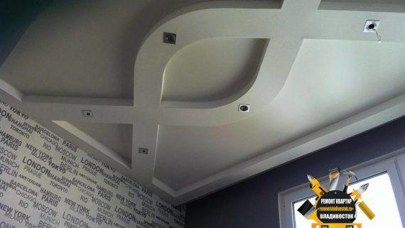 Установка подвесного потолка из ГВЛ во Владивостоке