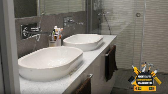 Ремонт гостиной комнаты и санузла недорого