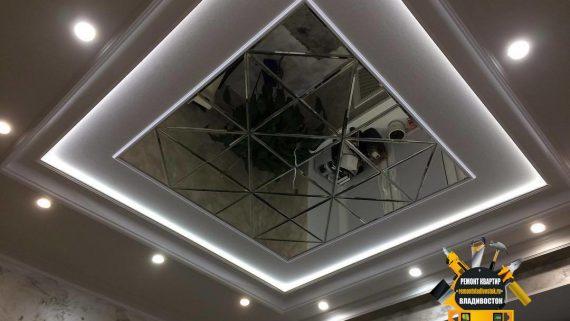 """Красивый дизайн потолка в квартире от компании - Ремонт квартир Владивосток"""""""