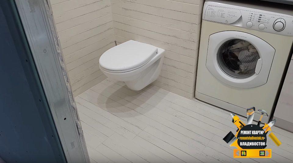 Ремонт санузла под ключ в доме 83 серии во Владивостоке