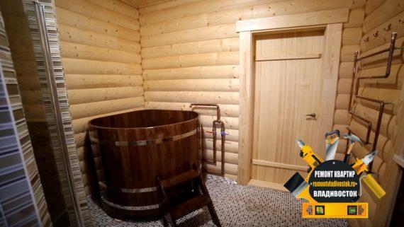 Строительство деревянной сауны с внутренней отделкой