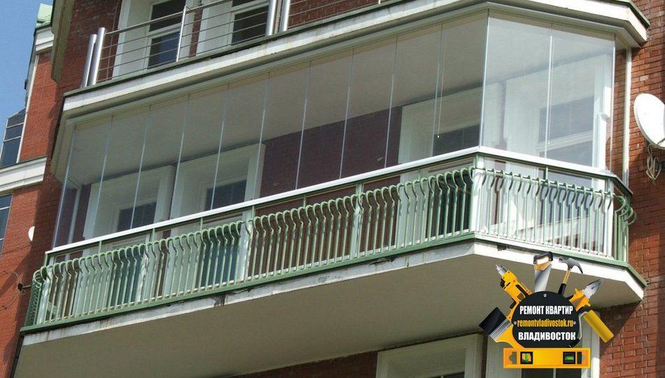Услуга остекление балконов во Владивостоке остаётся одной из самых популярных в нашей компании «Ремонт квартир Владивосток».