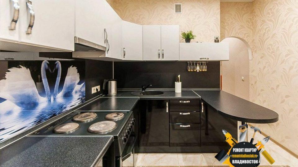 Хороший интерьер для маленькой кухни