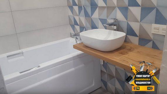 Ремонт ванной комнаты в хрущёвке во Владивостоке