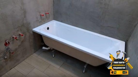 Установка акриловой ванны недорого!