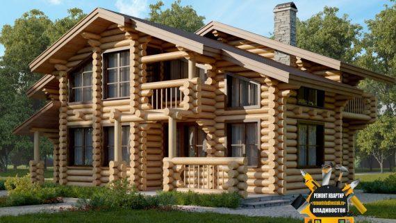 Индивидуальные проекты домов из дерева во Владивостоке