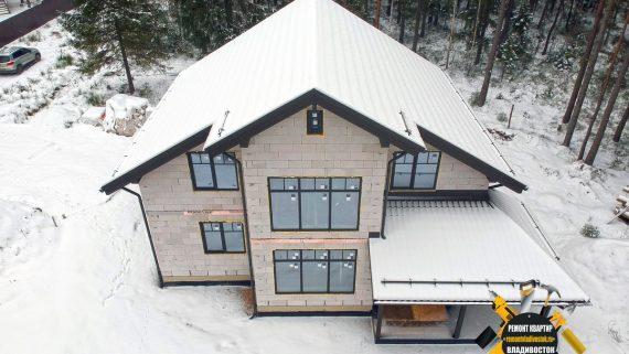 Строительство дома из газобетона под ключ недорого во Владивостоке