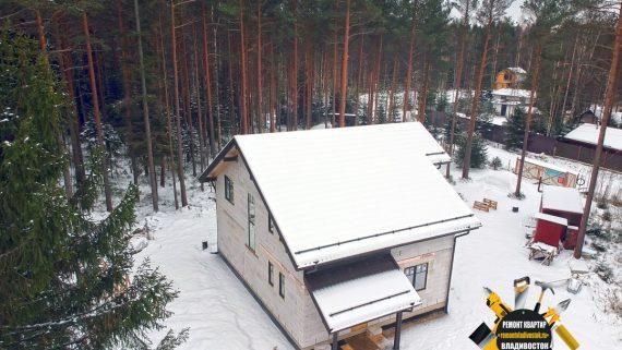 Строительство дома из газобетона с отделкой в пригороде Владивостока