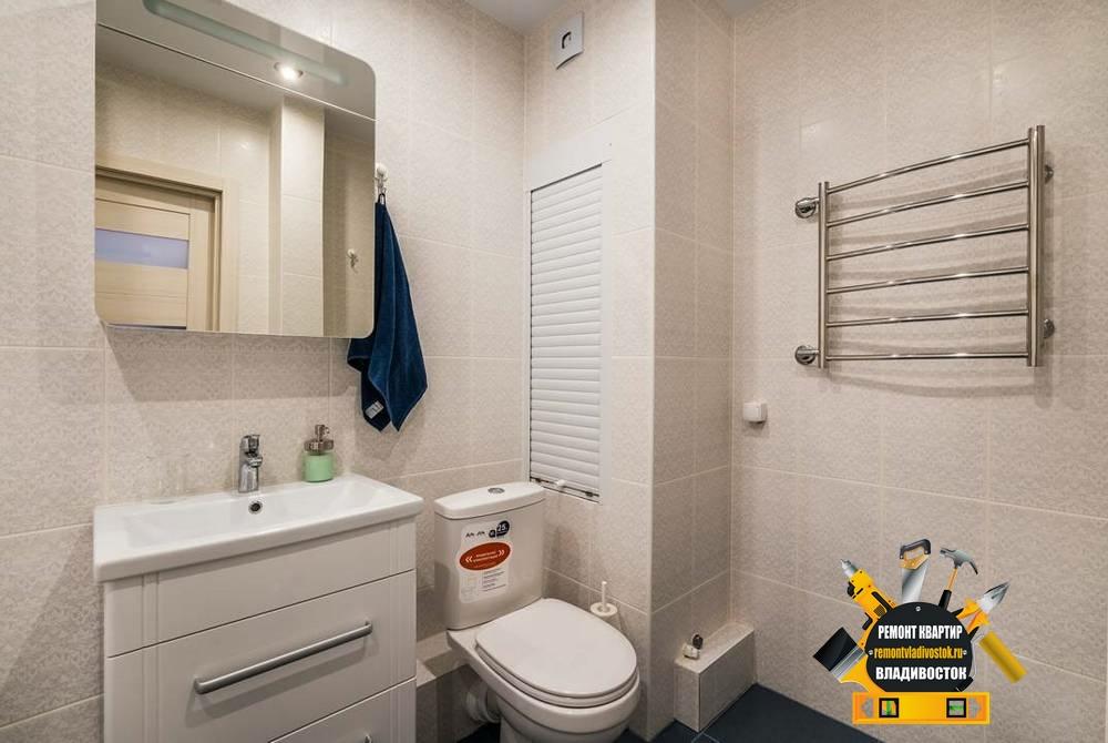 Ремонт ванной комнаты в новостройке Владивостока
