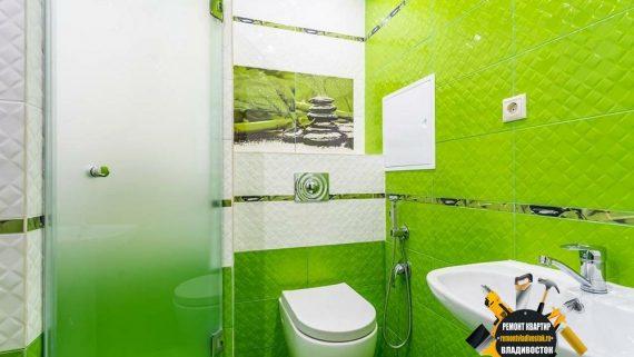 """Дизайн ванной комнаты и туалета от компании -""""Ремонт квартир Владивосток"""""""