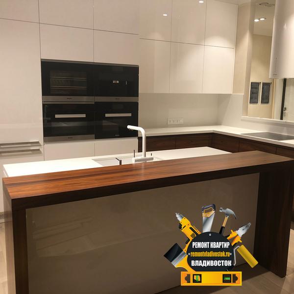 Очень качественный ремонт кухни в новом доме