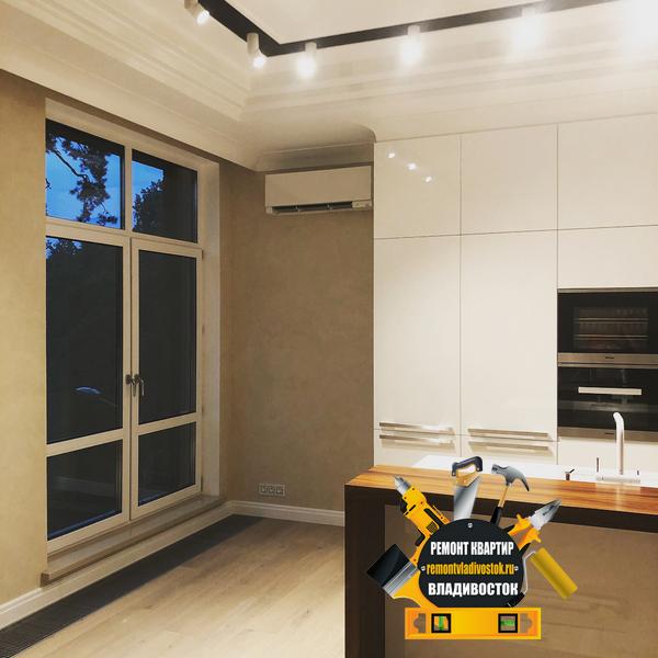 Ремонт кухонной зоны в новом доме