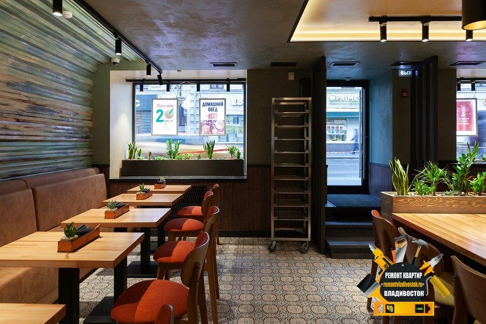 "Отделка ресторана командой строителей - ""Ремонт квартир Владивосток"""
