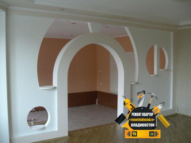 Стены и арки из гипсокартона