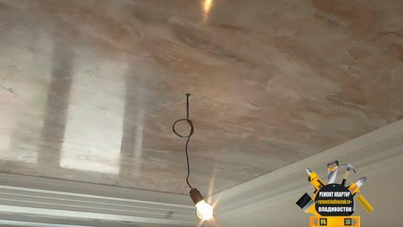 """Штукатурка потолка доступно и недорого от компании - """"Ремонт квартир Владивосток"""""""