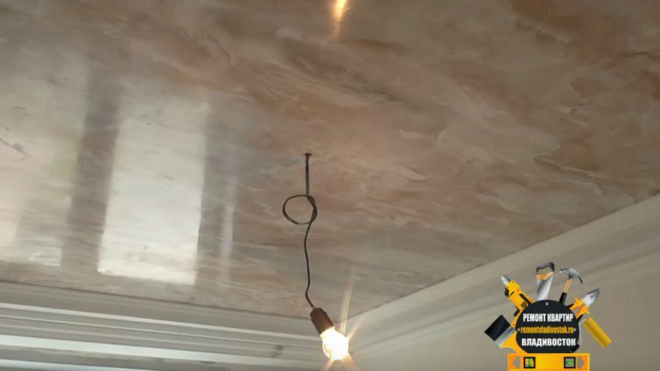 Декоративная штукатурка потолка