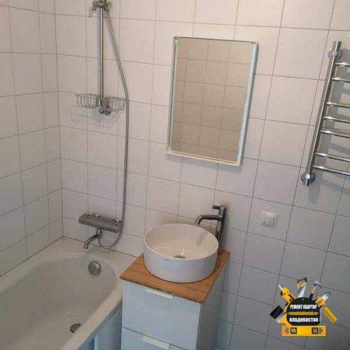 Ремонт ванной комнаты в гостинке