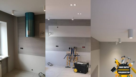 Каким должен быть потолок на кухне, подвесным, натяжным, простым?