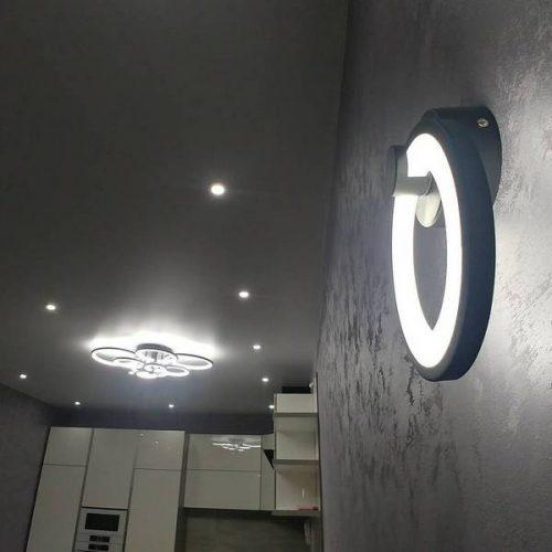 Монтаж светильников в трёхкомнатной квартире