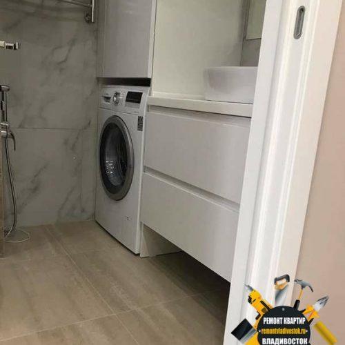 Подключение стиральной машины и умывальника