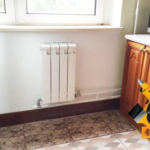 Работа по замене радиатора отопления