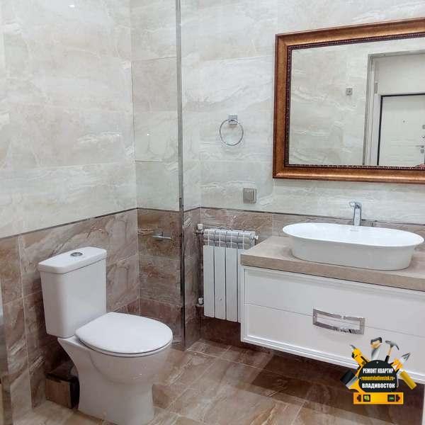 Ремонт ванной комнаты в новостройке под ключ