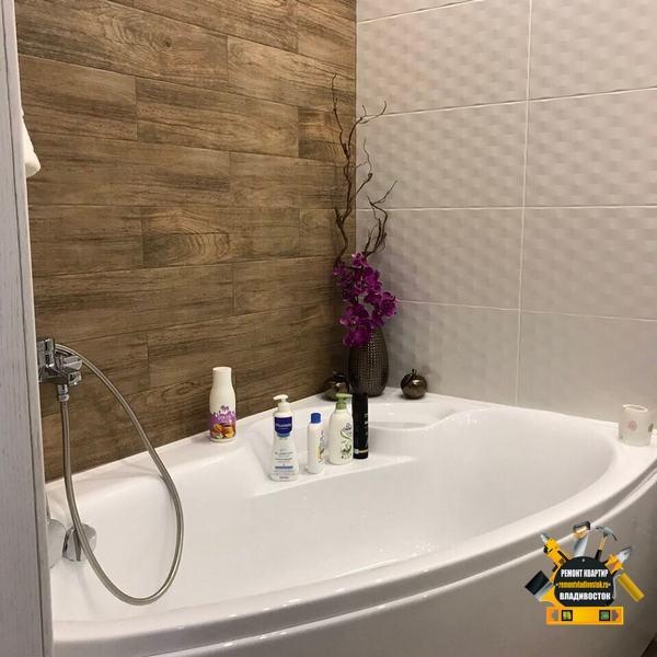 Дизайн ванной комнаты в кафеле