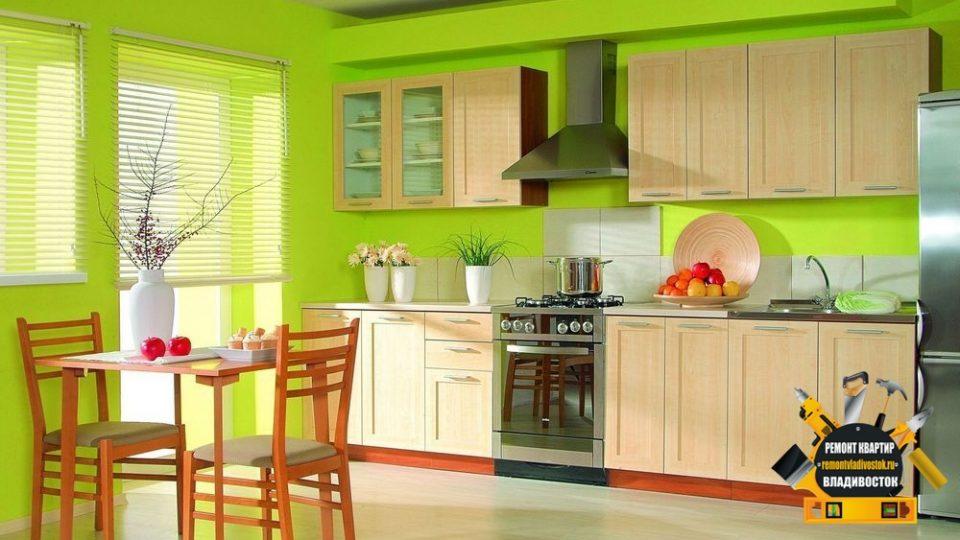 Покраска кухни потолка и стен