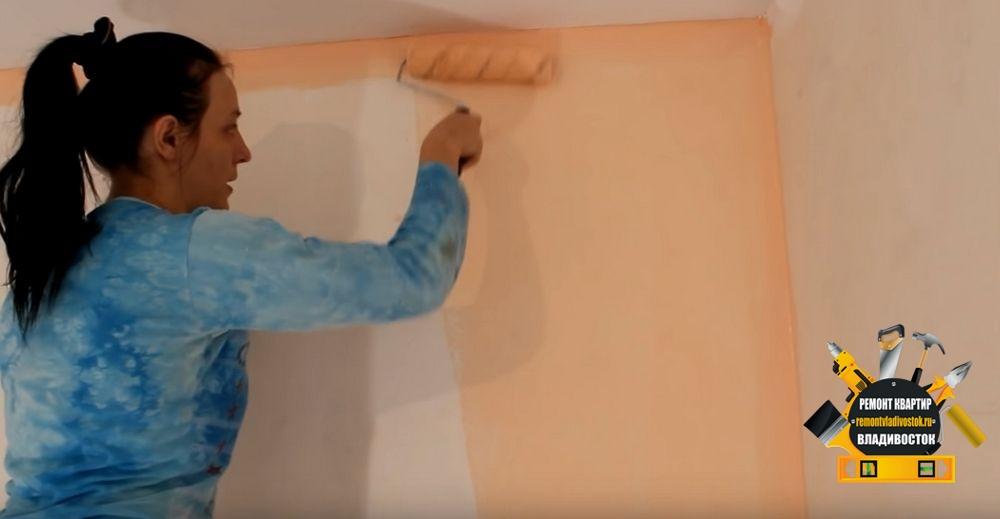 Окраска стен кухни