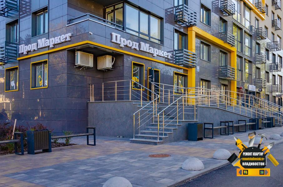 Первый этаж в новостройках Владивостока под магазины, салоны красоты и тренажёрные залы