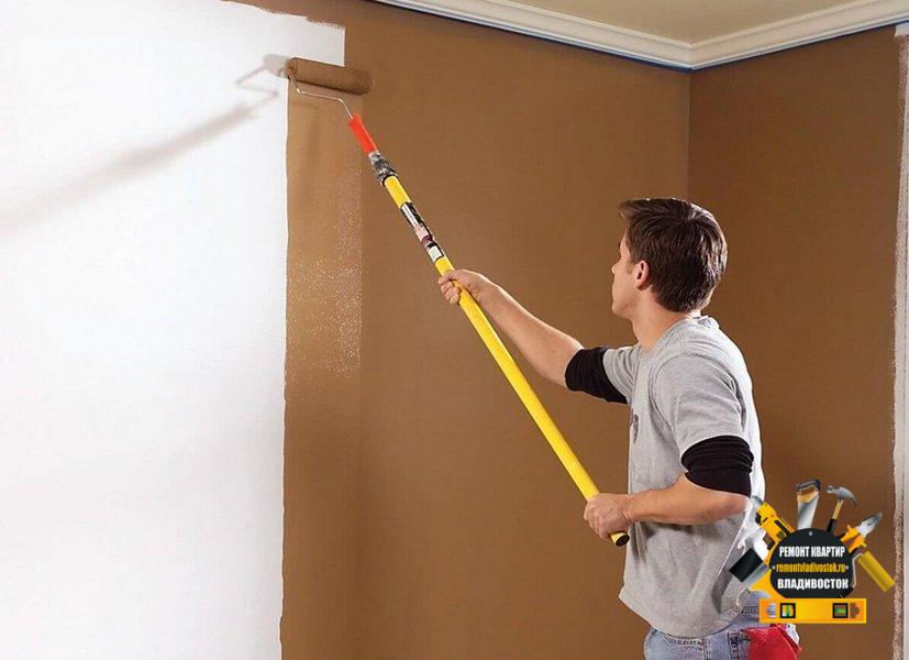 Особенности окраски стен