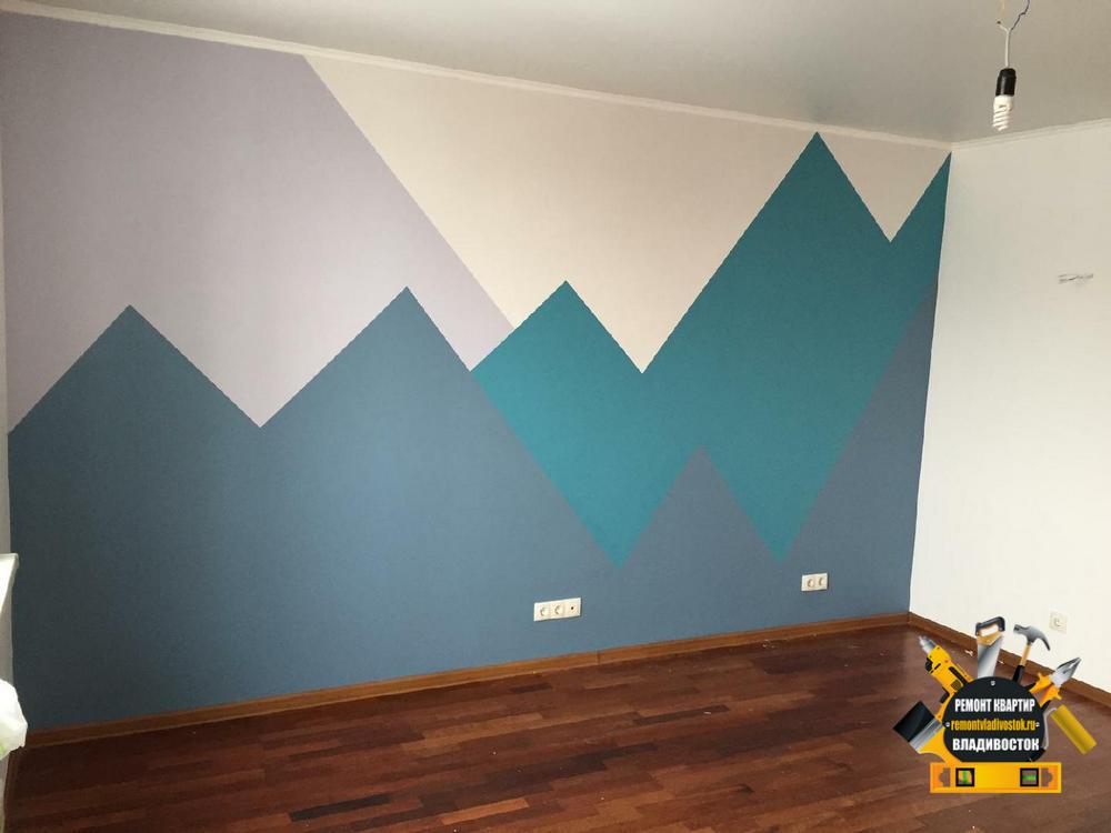 Цветовые сочетания в покраске стен